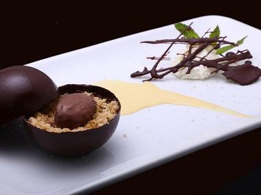 Restaurant La Coupe d'Or Lisieux dessert au chocolat