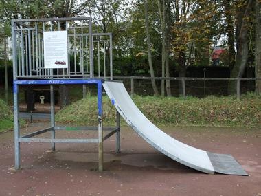 Skate park de Lisieux tremplin