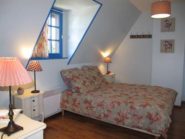 chambre double bleue