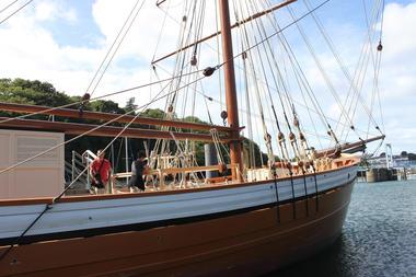 Port-musée Douarnenez Bretagne bateau à flot