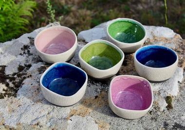 Poterie Toramur - bols raku bicolores