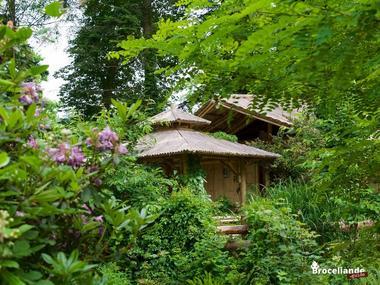 Cabane Bambou-2 Camping d'Aleth St-Malo de Beignon Brocéliande