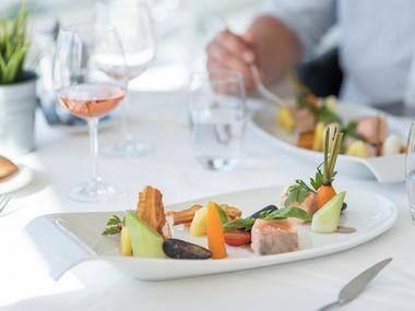 Restaurant - Les Chevaliers - plat gastronomique - Ploërmel - Bretagne