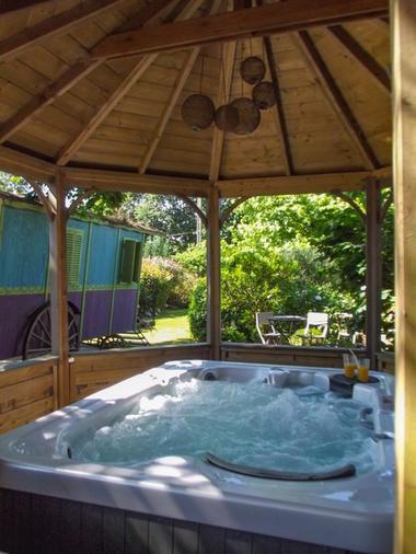 roulotte des courtils - spa - Ploërmel - Brocéliande - Bretagne