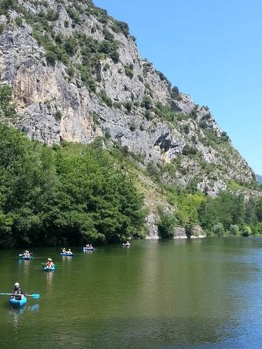 canoë kayac lac de sinsat