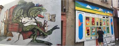 Du Street art dans la rue Porte du Moustier