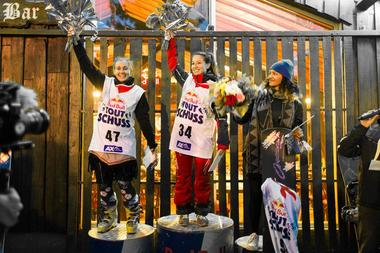 podium fille snowboard red bull tout schuss ax 3 domaines