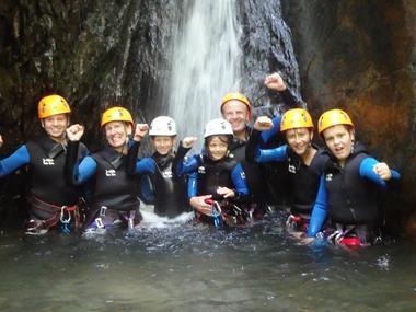 Bureau des Guides canyon groupe