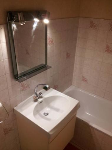 studio 2 personnes à ax les thermes - salle de bain
