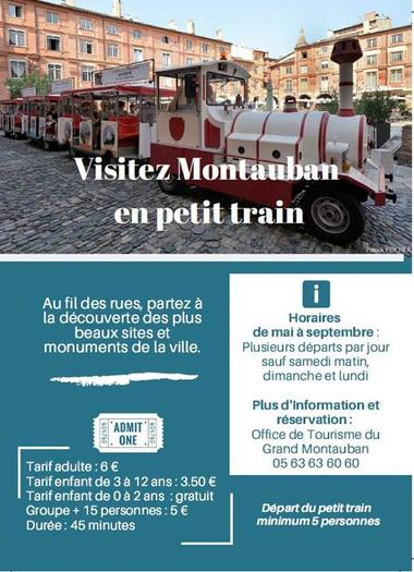 Le petit train touristique - découvrir Montauban en petit train Tarn-et-Garonne