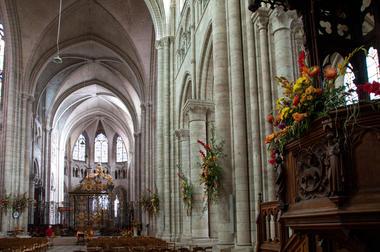 La Cathédrale Saint-Etienne de Sens, fleurie pour la Saint-Fiacre