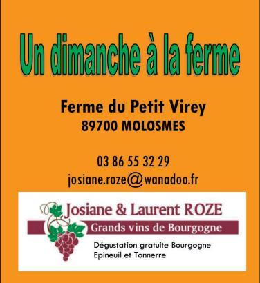 Flyer Ferme du Petit Virey