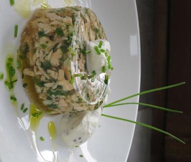 Persillé de saumon à la bourguignonne