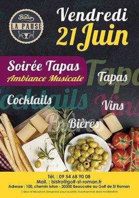 Affiche Soirée Tapas au Bistro la Pause le 21 juin.jpg