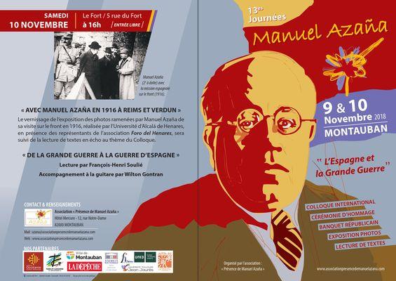09 et 10.11.2018 Journées Manuel Azana 2018 Exposition et lecture.JPG
