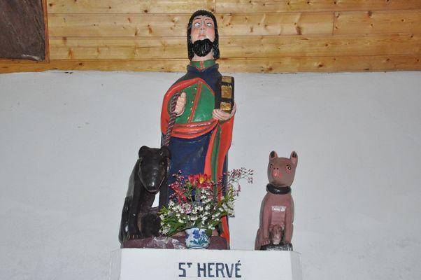 Chapelle St Georges - intérieur - Meslan - Pays roi Morvan - Morbihan Bretagne sud - CP CCPRM (7).JPG