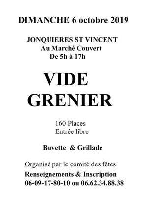 Affiche Vide Grenier à Jonquières St Vincent le 6 octobre 2019.jpg