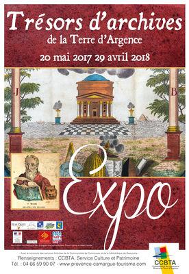Expo Trésors d'Archives de la Terre d'Argence à Beaucaire du 20 mai 2017 au 29 avril 2017.jpg