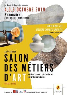 Affiche Salon des Métiers d'Art Beaucaire du 4 au 6 octobre 2019.jpg