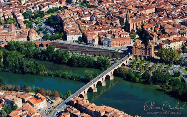 Vue aérienne de Montauban