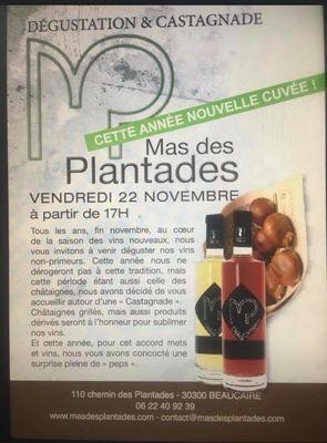Dégustation et castagnade au Mas des Plantades le 22 novembre.jpg