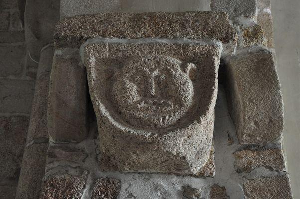 Eglise - Priziac - intérieur - Pays roi Morvan - Morbihan Bretagne sud - CP CCPRM (98).JPG
