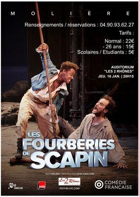 Affiche Les fourberies de Scapin à Fourques le 16 janvier 2020.jpg