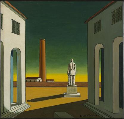 Giorgio de Chirico, Place d'Italie avec statue, ca 1965-1970.jpg