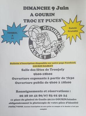 Calendrier Troc Et Puces 56.Troc Et Puces De Gourin Basket Vide Greniers Braderie