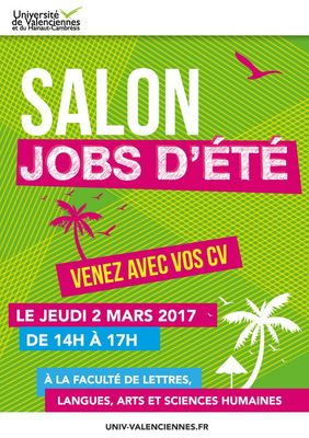 Salon jobs d 39 t 2017 valenciennes office de tourisme - Salon job d ete lille ...