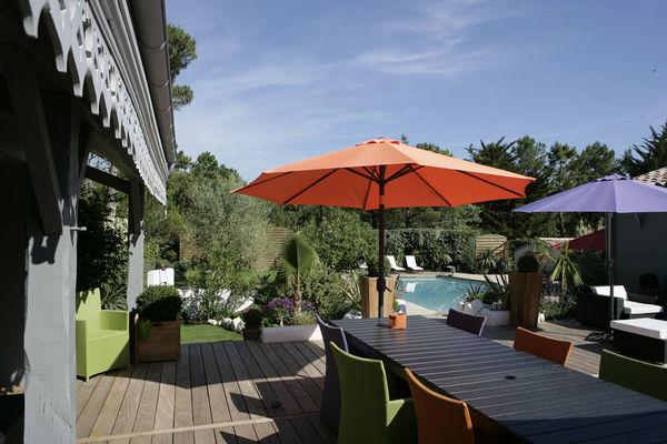 Terrasse vue piscine