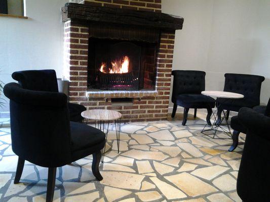 L'Unico Coté Jardin - Sebourg -  Restaurant - Cheminée (1) - 2018.jpg
