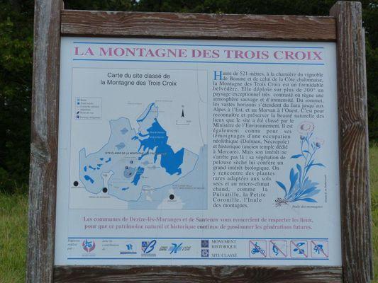 le site classé du Mont de Sène ou Montagne des 3 Croix©L Dallerey