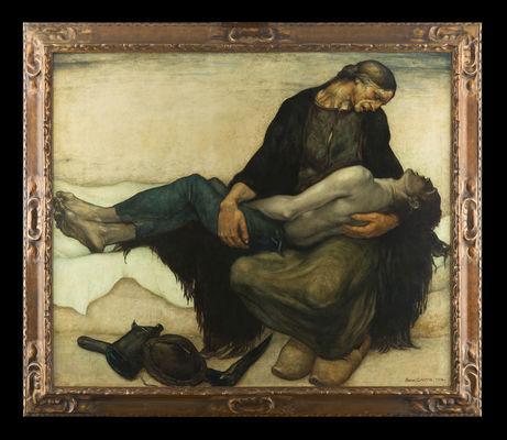 Tableau La Pieta d'Anto Carte - Collections Ville de Mons - Conserv+® +á l'Artoth+¿que -®Atelier de l'Imagier .jpg