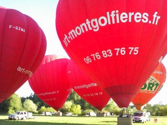 Décollage des montgolfières avec Art Montgolfières