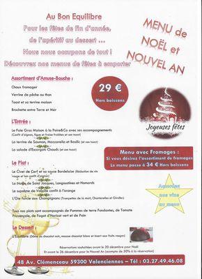 Un Bon Menu De Noel.Menu De Noel Et Nouvel An Au Bon Equilibre Sales Event