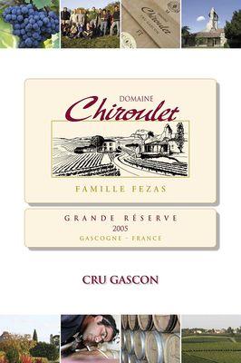 Vin des Côtes de Gascogne du domaine de Chiroulet