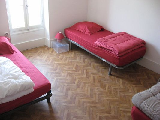 Chambre de 3 lits individuels