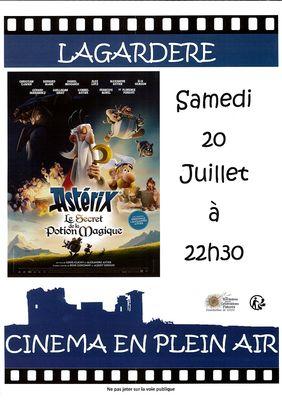 Cinéma en plein air à Lagardère
