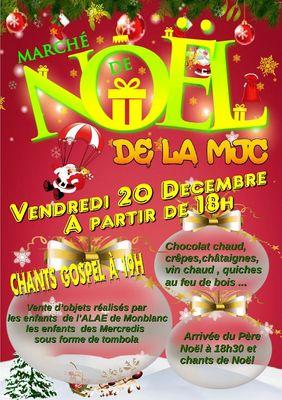 Marché de noel de la MJC de Monblanc