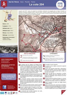 La cote 204 < Randonnée pédestre < Guerre 14-18 < WWI < Château-Thierry < Aisne < Picardie < France