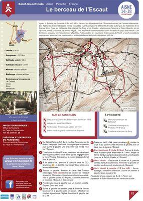 Le_Berceau de l'Escaut < Randonnée pédestre < Guerre 14-18 < WWI < Le Catelet < Aisne < Picardie < France