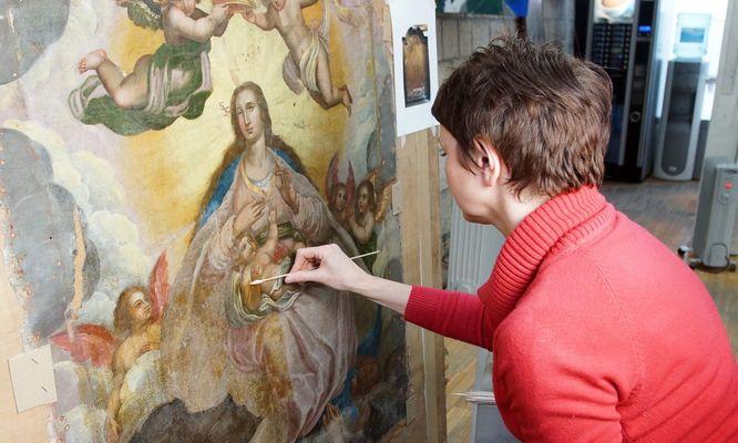 Atelier de restauration de tableau © Sylvie Ballart (4)
