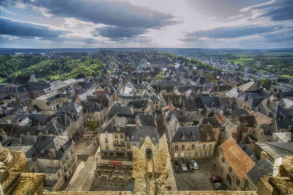 Vue sur la ville médiévale