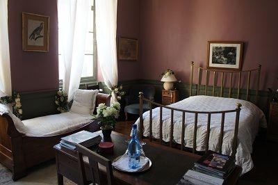 Chambres d'hôtes les Jardins du Château chambre mauve < Puisieux et Clanlieu < Aisne < Picardie
