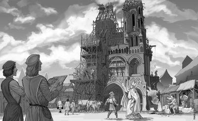 Circuit les visages du Pouvoir_chantier construction cathédrale < Laon < Aisne < Picardie