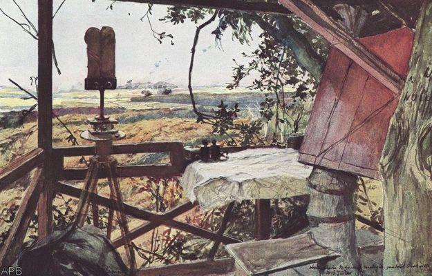Commandement du haut de la tour Mangin