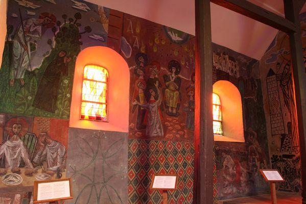 Peintures de l'église fortifiée de Jeantes < Thiérache < Aisne < Picardie