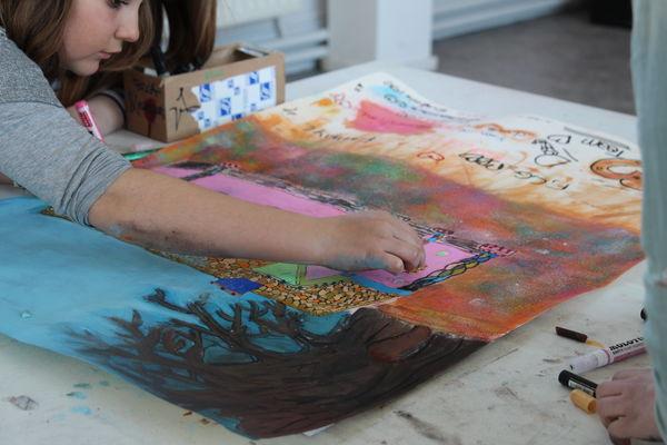 jeune public  peinture