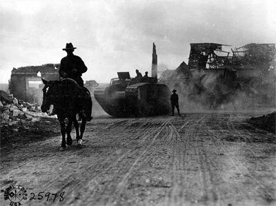 Soldat australien à Bellicourt - septembre 1918